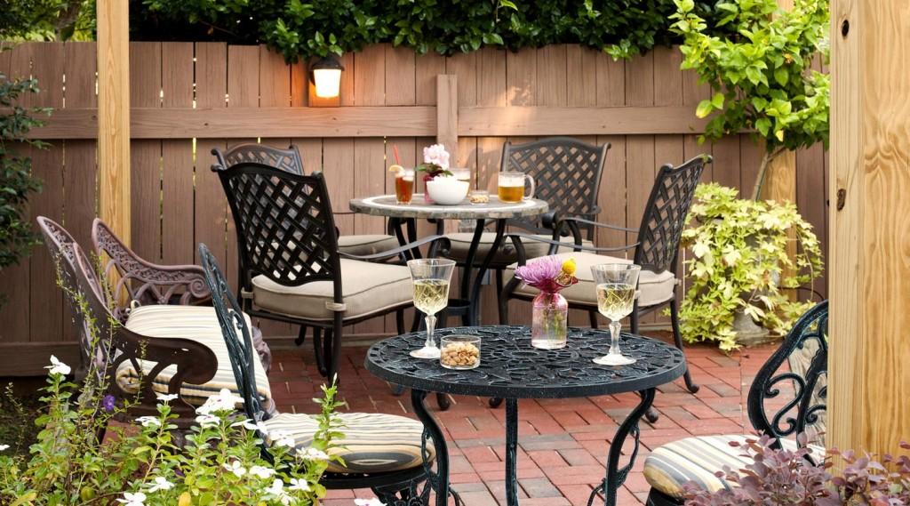Back patio at the Devereaux
