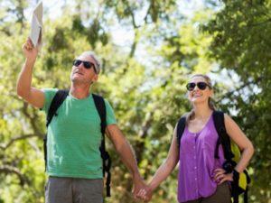 Couple Hiking the Natchez Trace