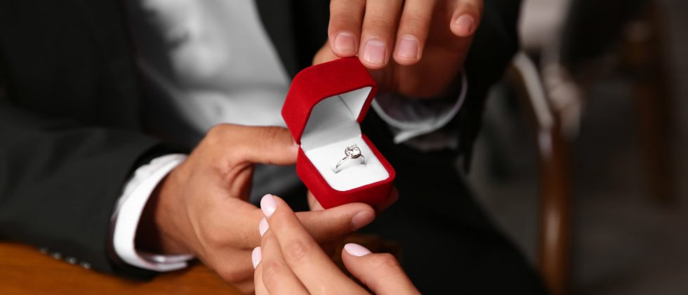 Romantic proposal in Natchez