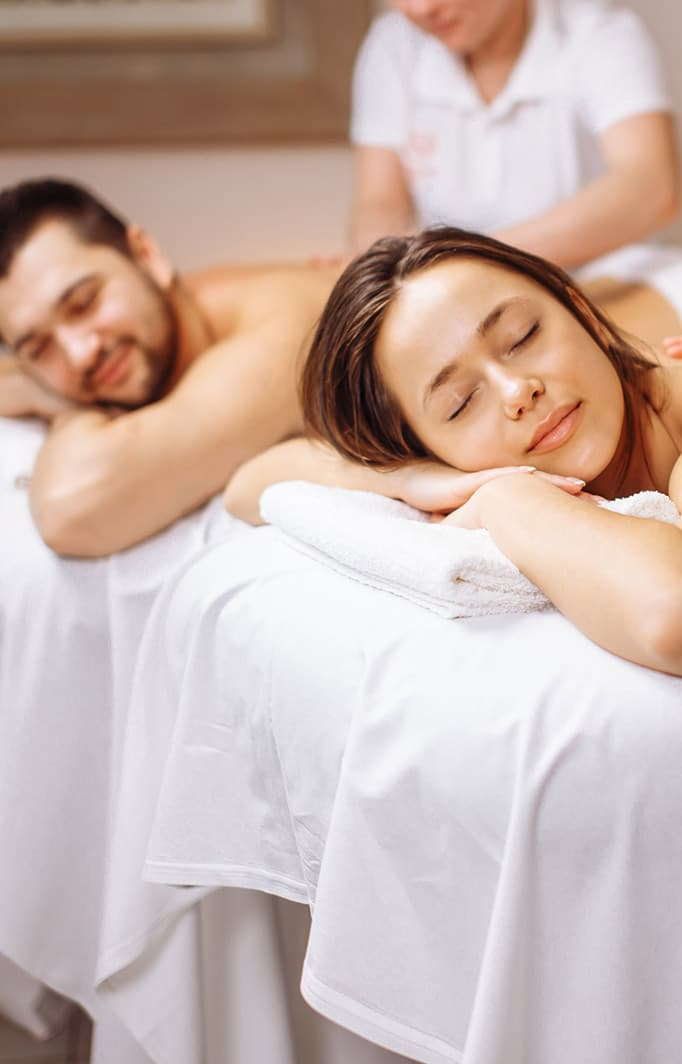 couple enjoying a relaxing massage together