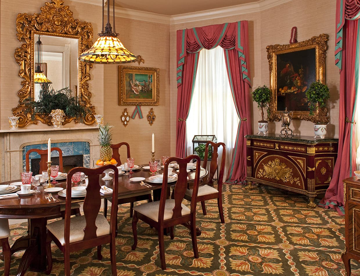 Dining room at the Devereaux Shields House