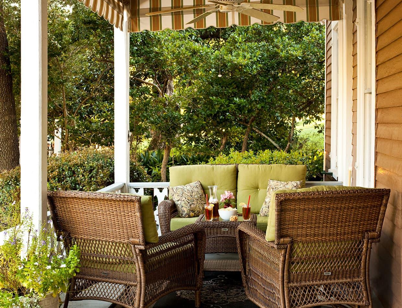 Devereaux Shields House front porch seating area