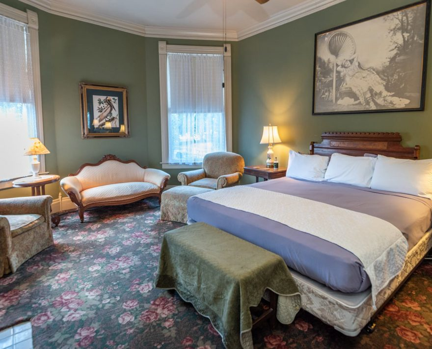 King Bed in the Rose Suite