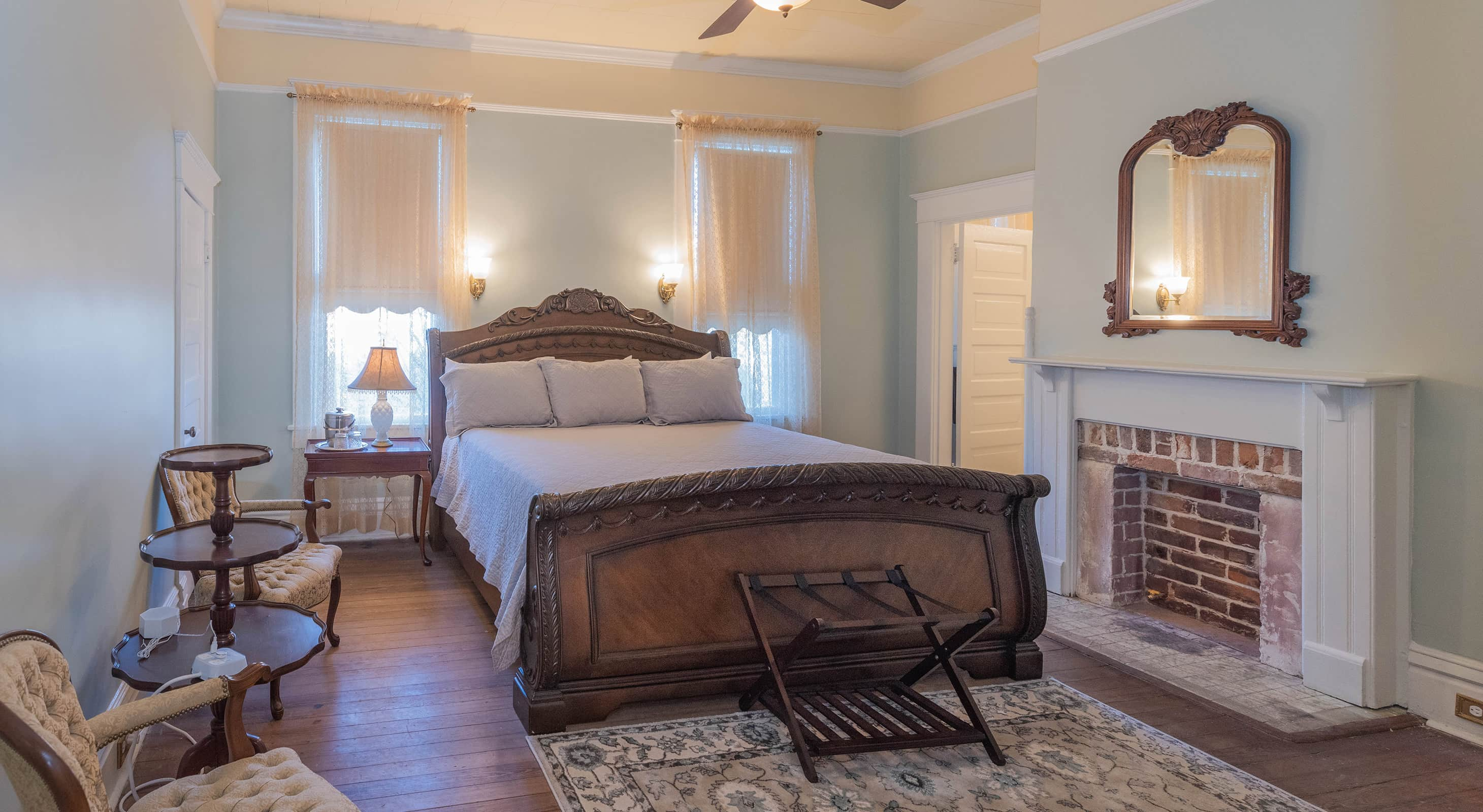 Robert Suite at our romantic Mississippi bed and breakfast