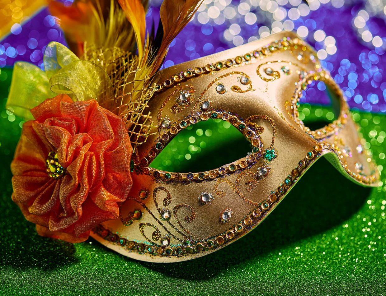 Mardi Gras celebration mask